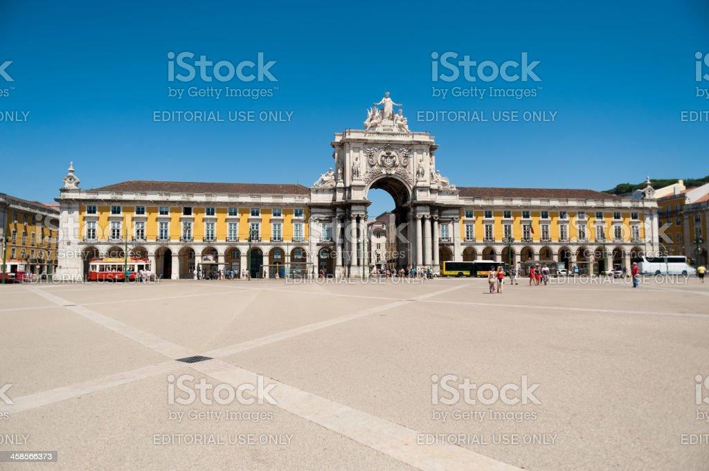 Trade Square (Praca do Comercio) in Lisbon, Portugal stock photo