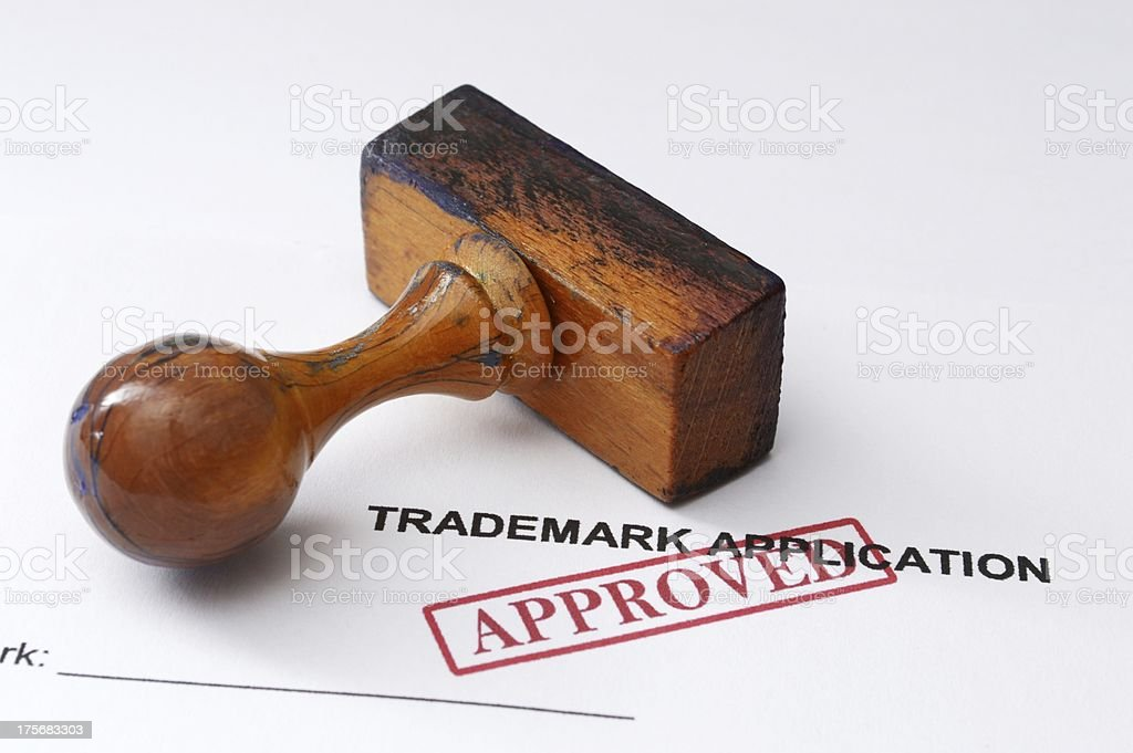 Trademark application - approved royalty-free stock photo