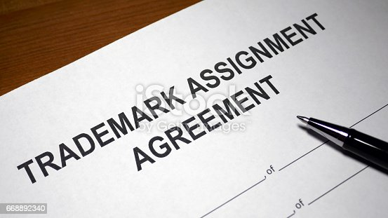 Trademark Assignment Stock Photo 668892340 | Istock