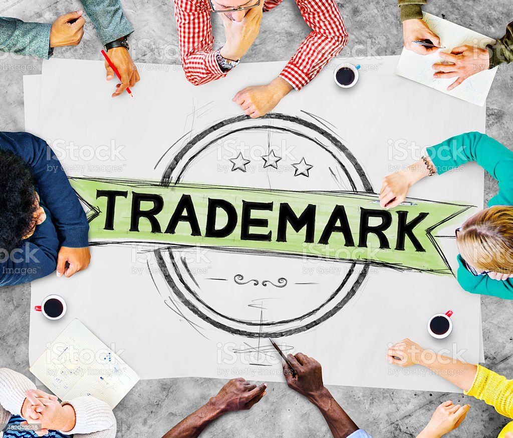 Trademark Brandind Advertising Copyright Concept stock photo