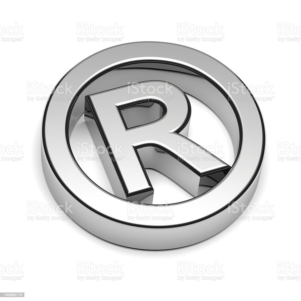 Trademark Chrome Sign royalty-free stock photo