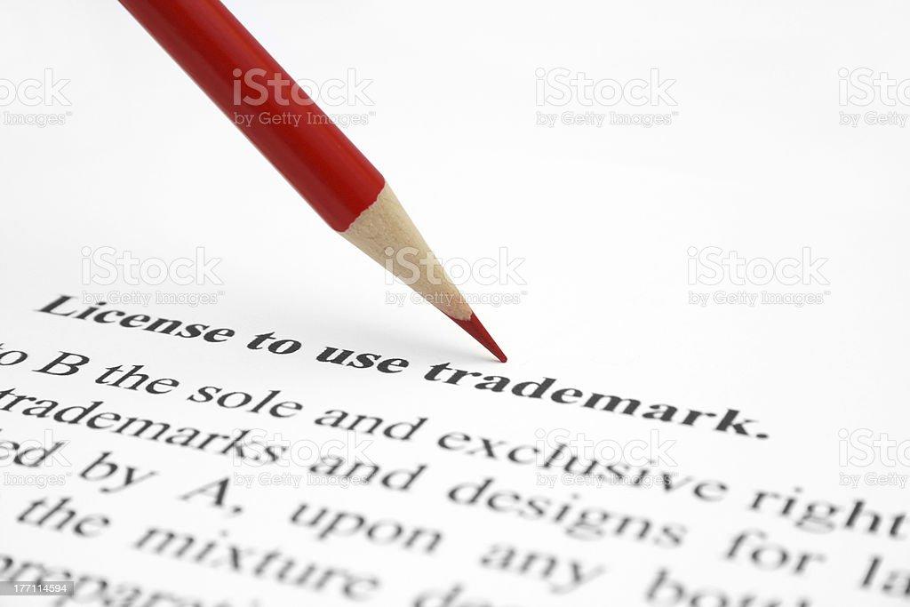 Trademark license royalty-free stock photo