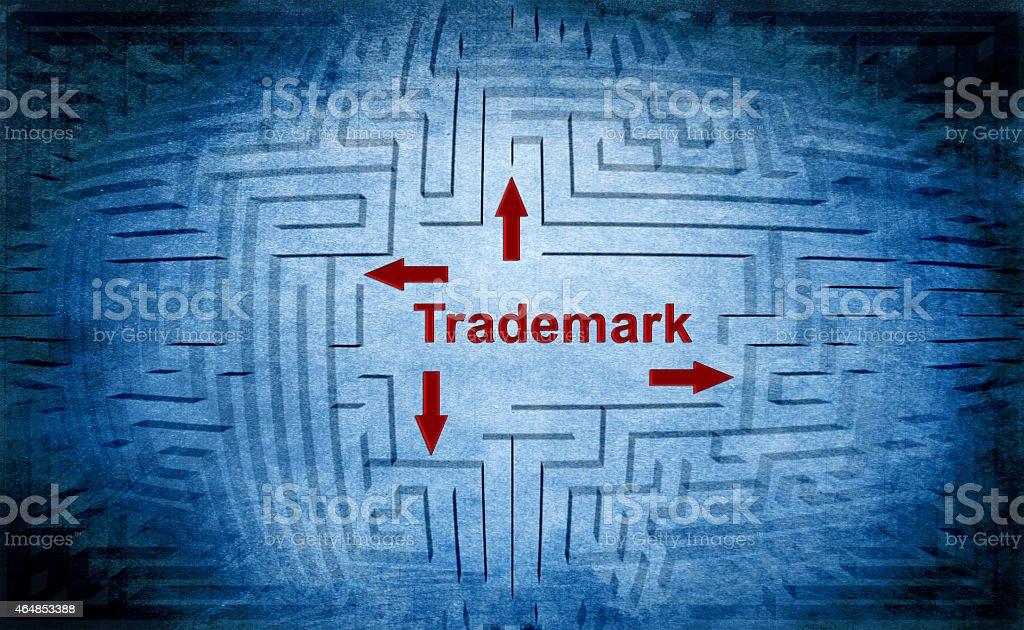Trademark maze concept stock photo