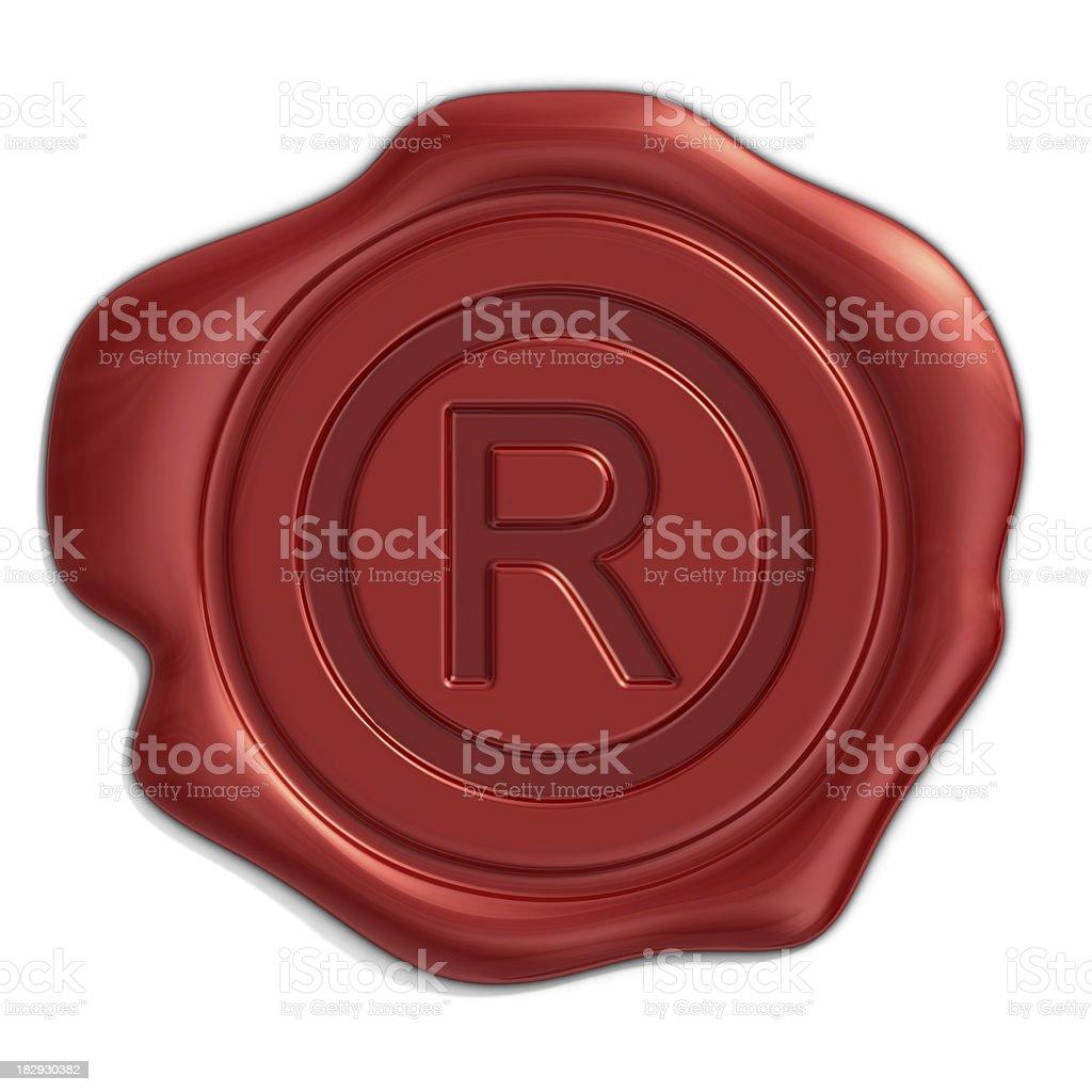 trademark seal stock photo