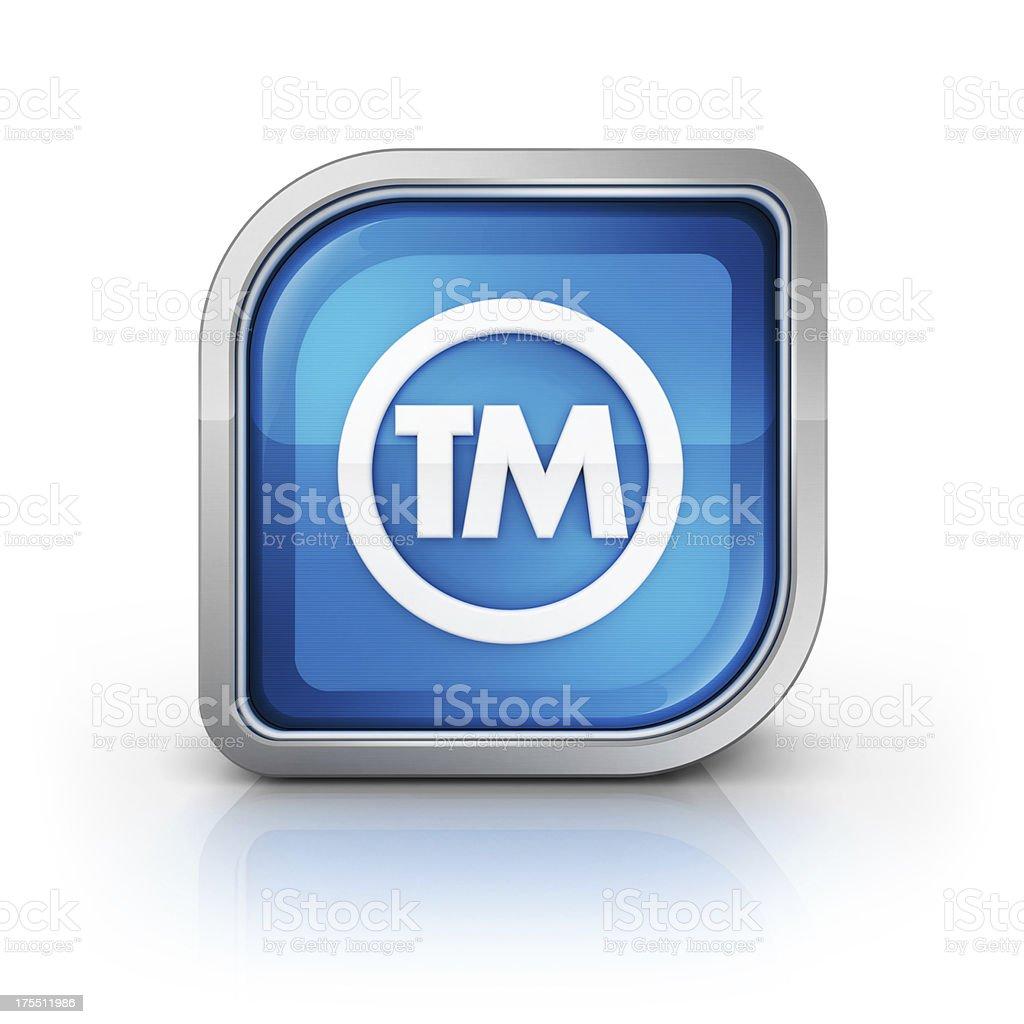 trademark tm 3d glossy icon royalty-free stock photo