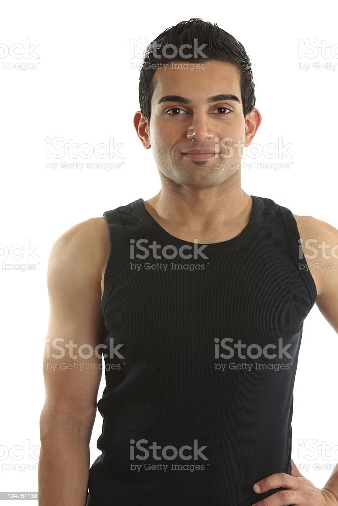 Tradesman or trainer royalty-free stock photo