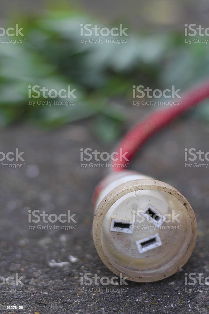Tradesman's extension lead outdoors royalty-free stock photo