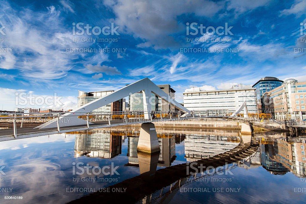 Tradeston Bridge, Glasgow Scotland stock photo