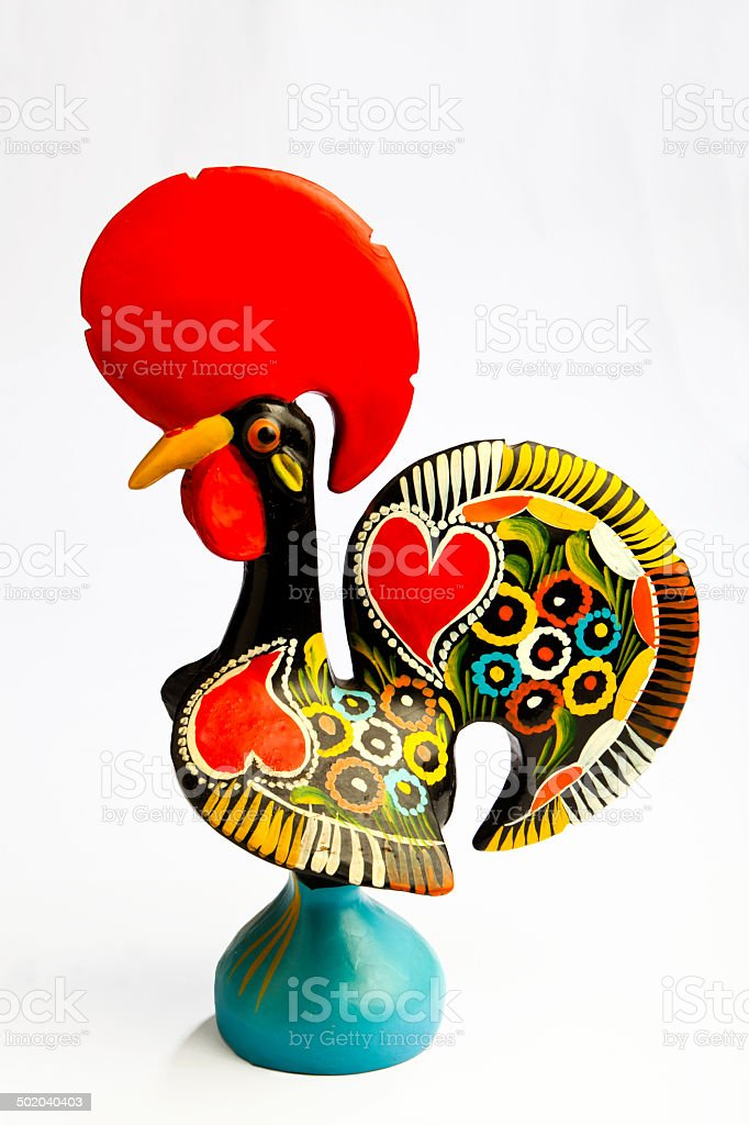 Tradicional Ceramic Rooster stock photo