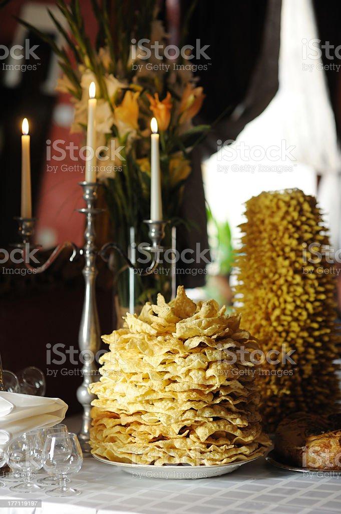 Tradicional lithuanian wedding cake royalty-free stock photo
