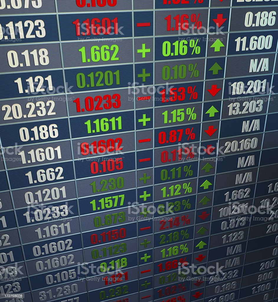 Trading Board, Stock Market, Ticker royalty-free stock photo