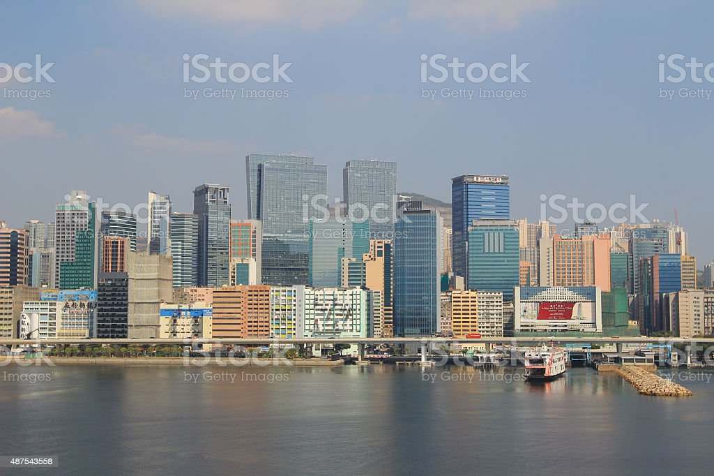 trading,  business and Industrial area at kwun tong stock photo