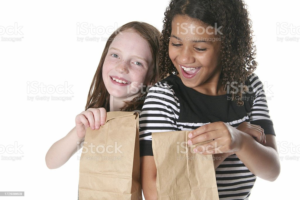 Trading Lunches royalty-free stock photo