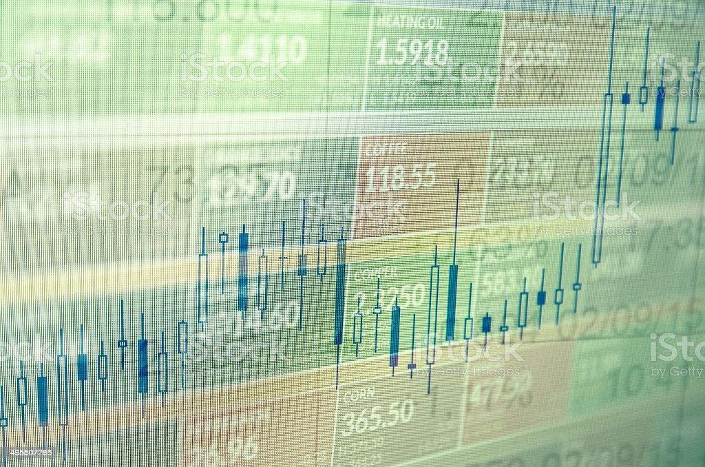 Trading platform window stock photo