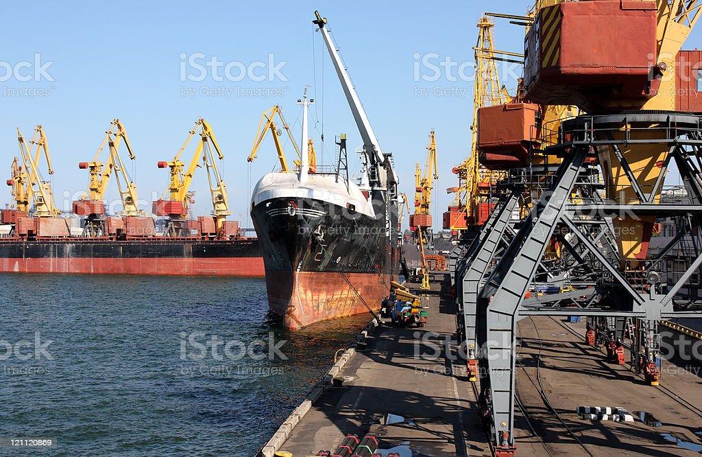 trading seaport royalty-free stock photo