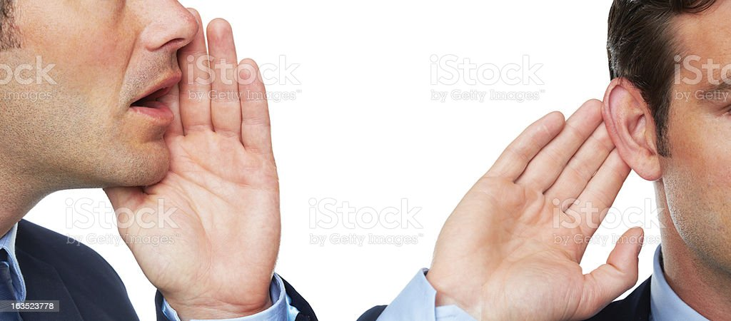 Trading secrets stock photo