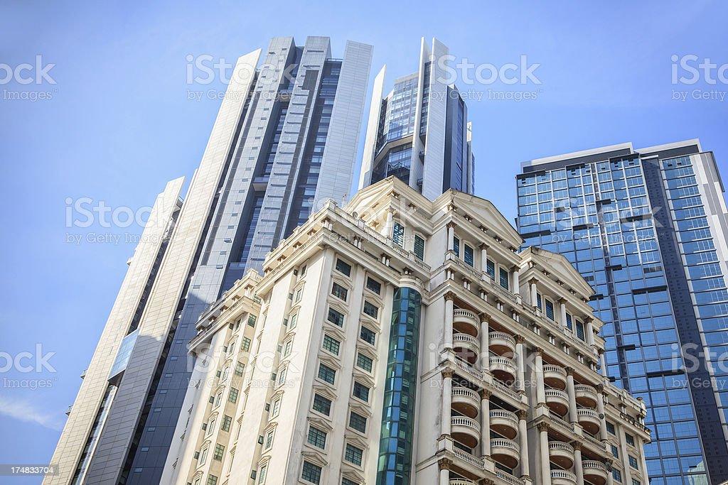 Tradition and Modernity, Kuala Lumpur royalty-free stock photo
