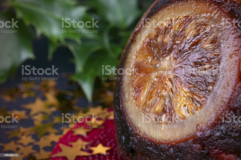 Tradition christmas pudding royalty-free stock photo