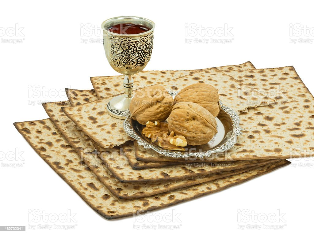 Tradition festive food for Jewish Passover royalty-free stock photo