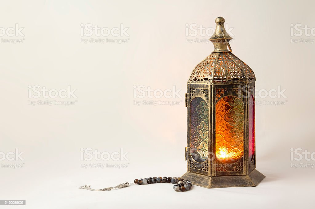 Tradition Lantern with Luxury Rosary stock photo