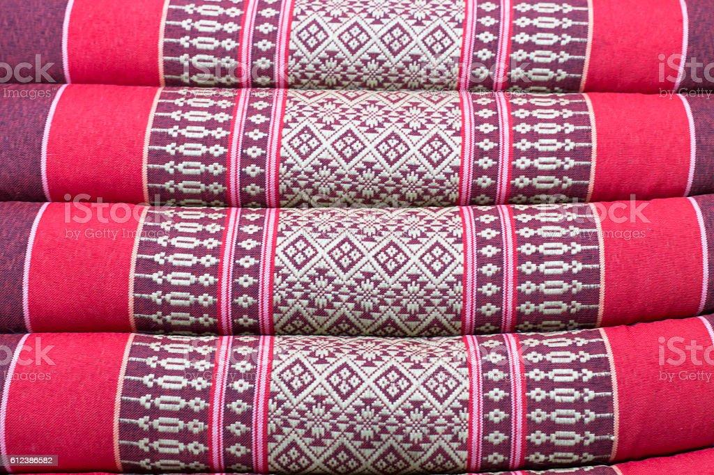 Tradition native Thai style pillow stock photo