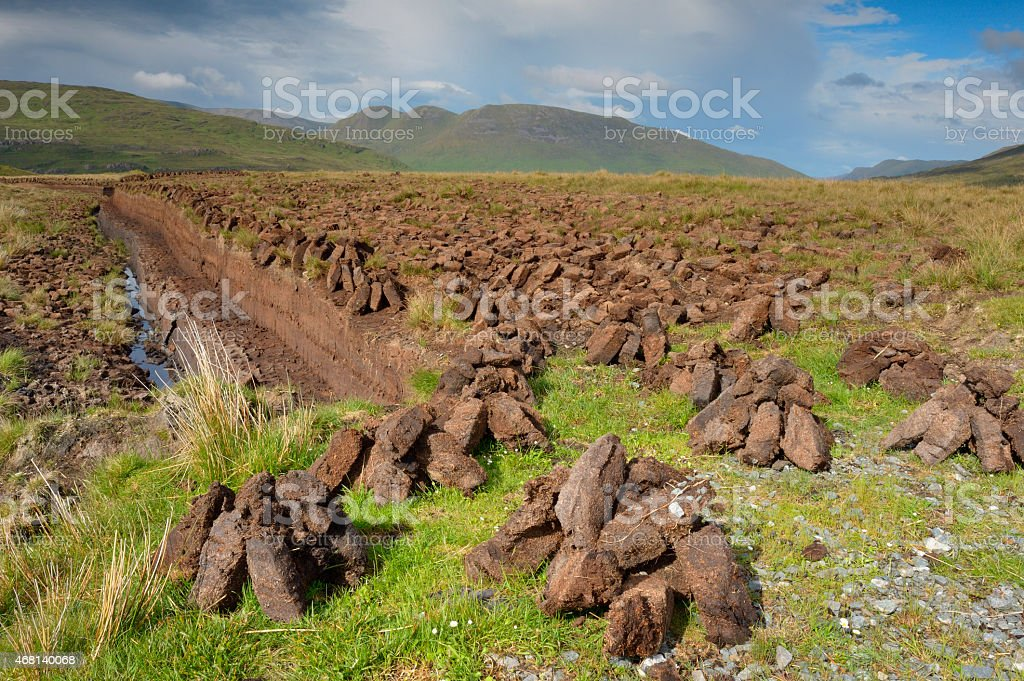 Tradition turf (Peat) stock photo