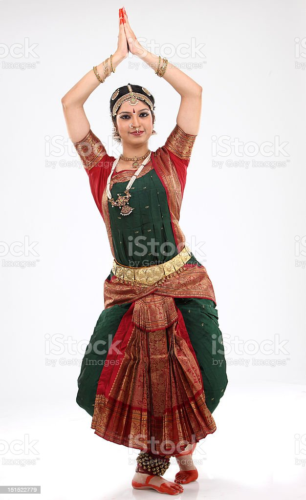 Tradition woman doing traditional dance royalty-free stock photo