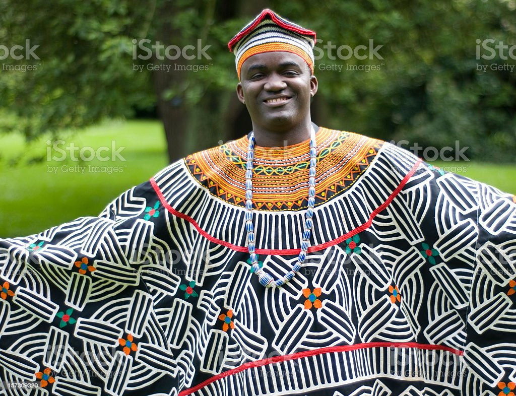 Traditional African Dress stock photo