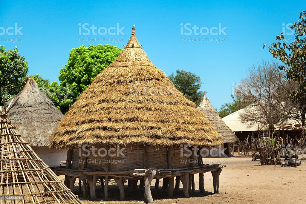 traditional african house stock photo