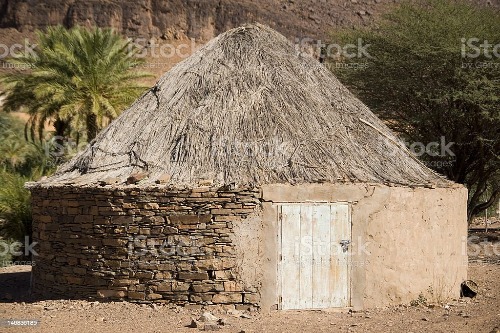 Traditional African Hut stock photo