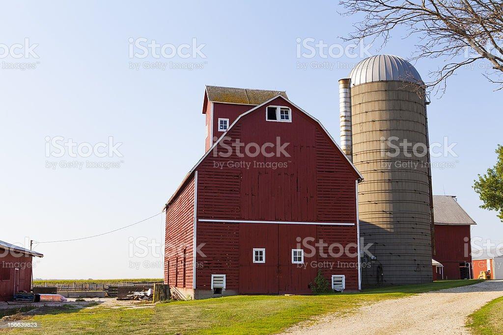 Traditional American Barn (Autumn Season) royalty-free stock photo