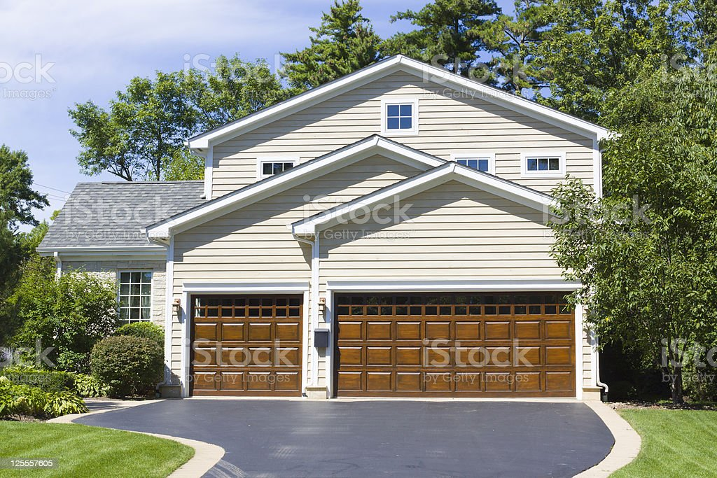 Traditional American Home stock photo