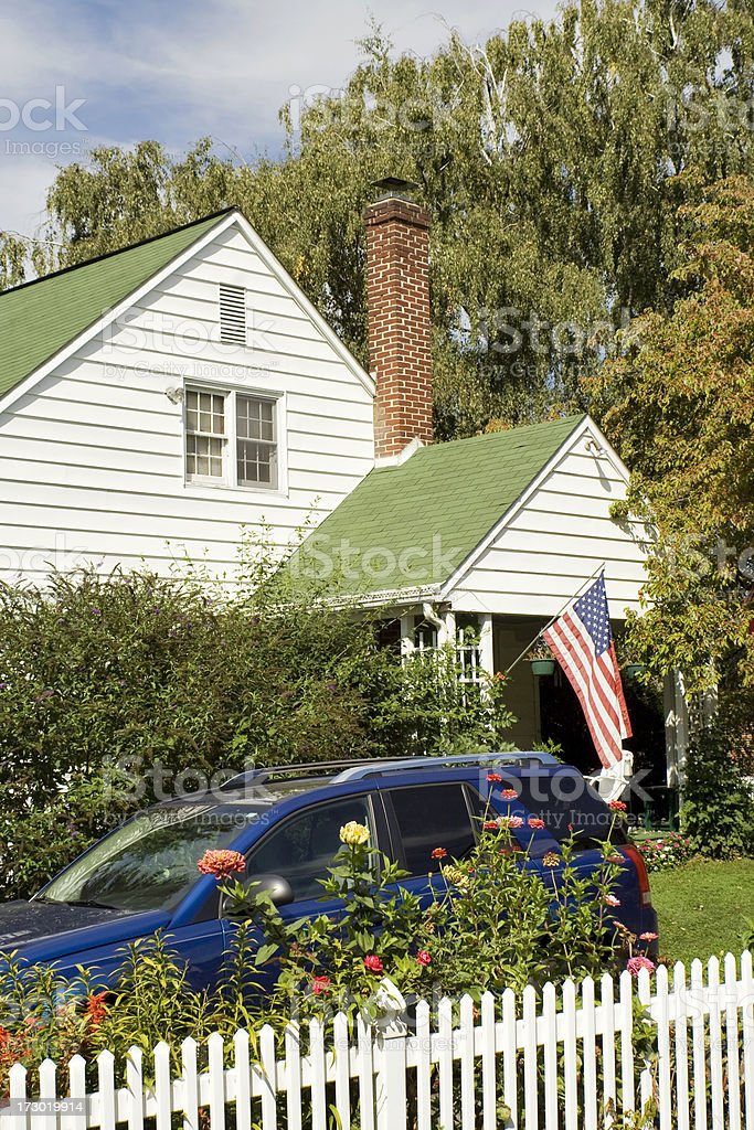 Traditional American house in rural Pennsylvania royalty-free stock photo