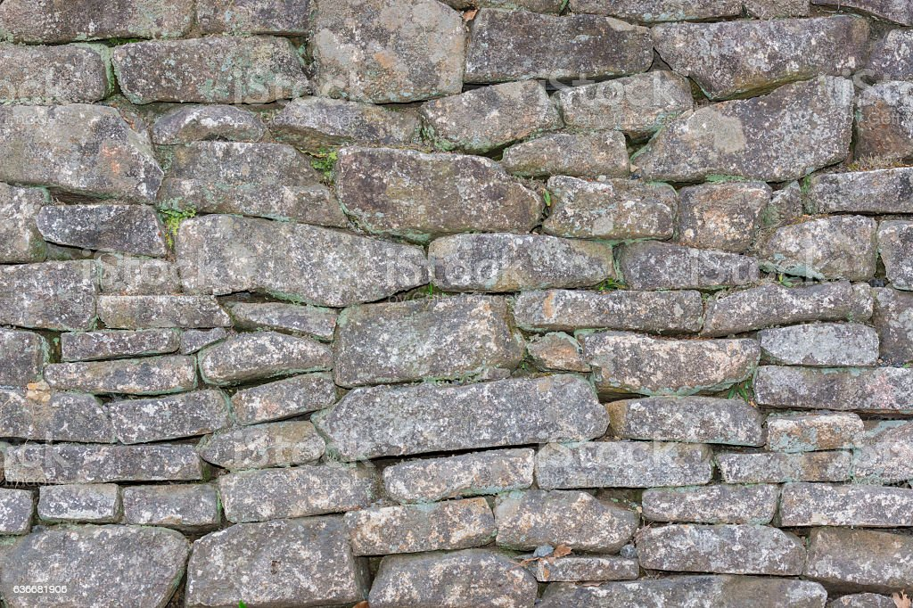 Traditional ancient brick wall texture background. stock photo