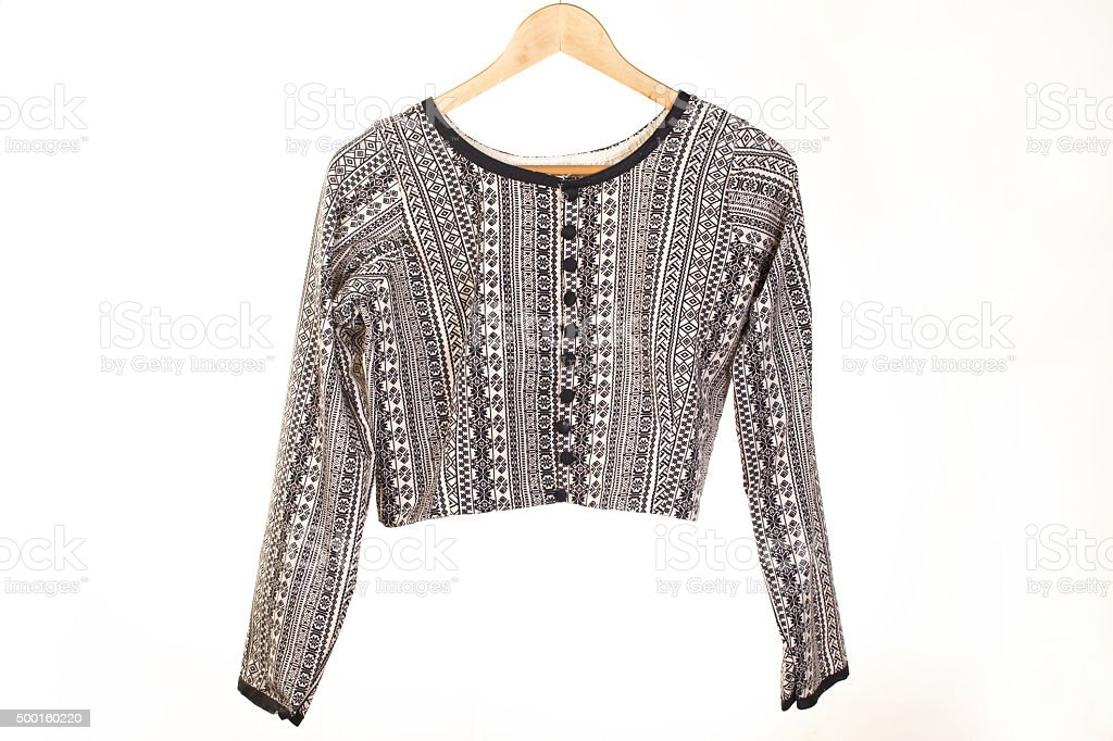 traditional and ethnic indian blouse for women to be worn stock photo