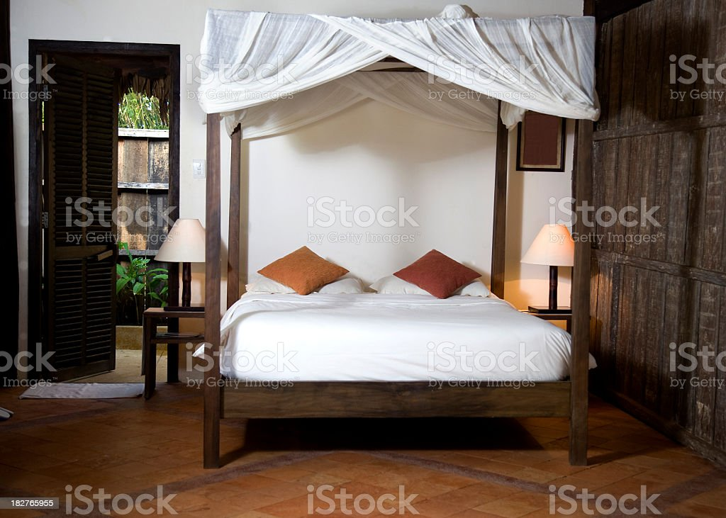 Traditional and luxurious hotel room royalty-free stock photo