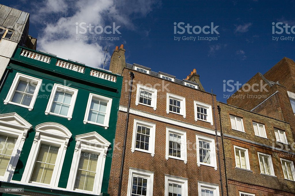 Traditional and typical architecture of Soho Square, London royalty-free stock photo