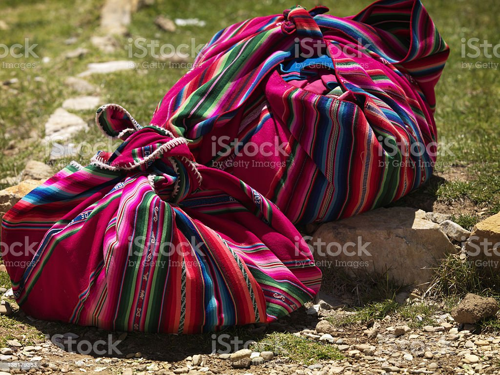 Traditional  andean Bags royalty-free stock photo