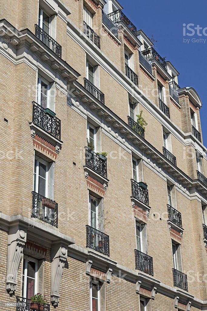 Traditional apartment building in Paris, France royalty-free stock photo