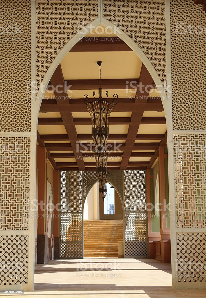 Traditional arabian architecture in Doha royalty-free stock photo