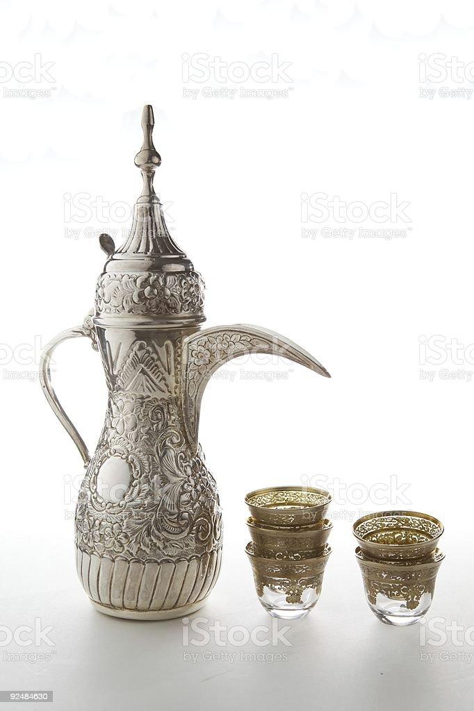 Traditional Arabian Coffee set royalty-free stock photo