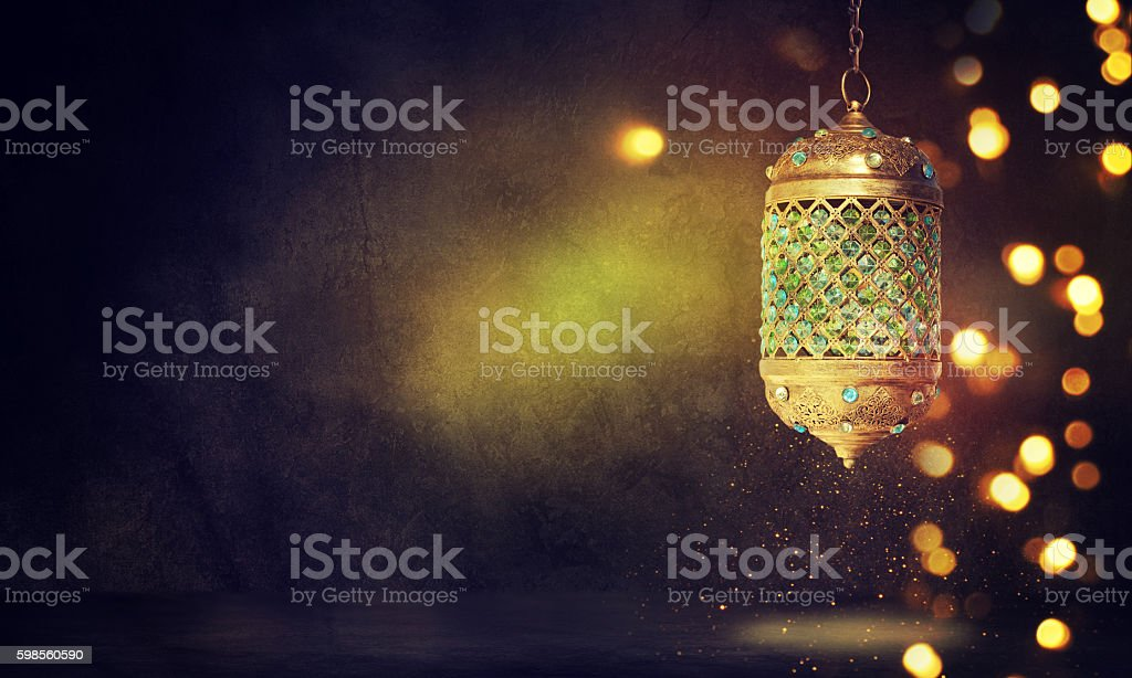 Traditional arabic lantern stock photo
