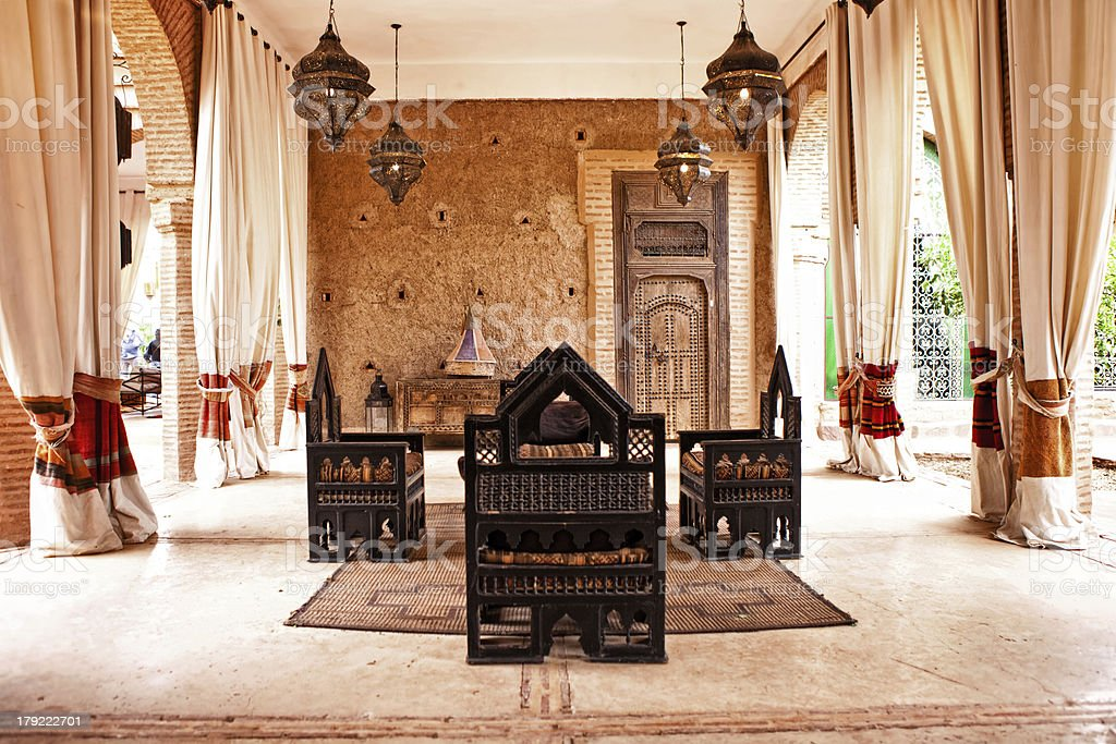 traditional Arabic place for  relax stock photo