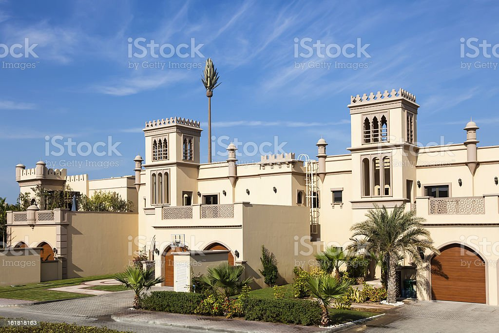 Traditional architecture in Dubai royalty-free stock photo