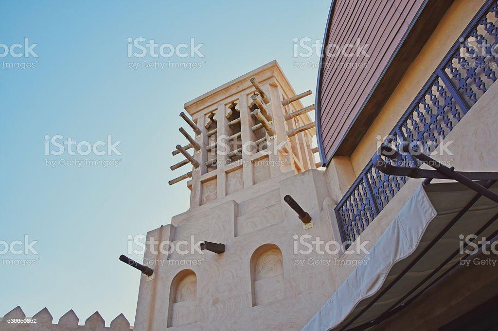 Traditional Architecture in Dubai stock photo