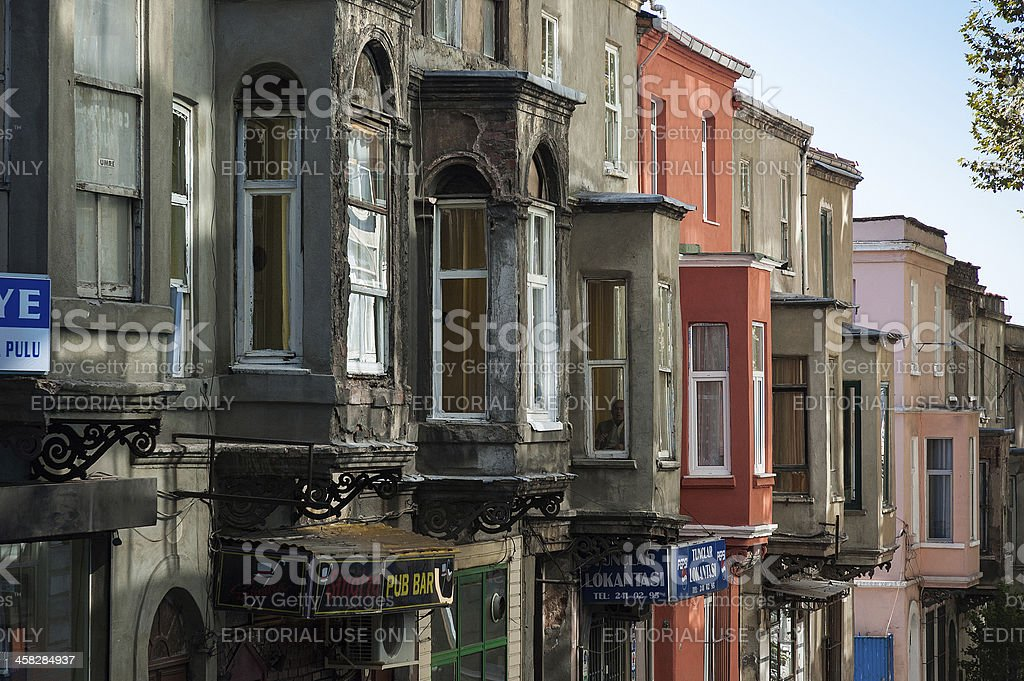 Traditional architecture in Istanbul stock photo