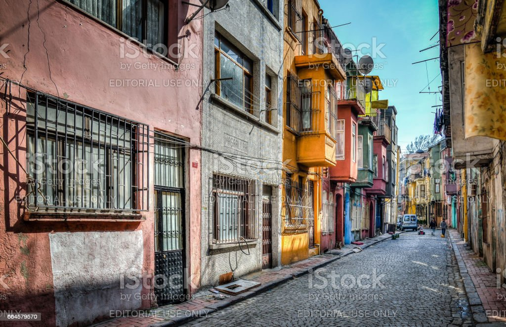 Traditional architecture in Istanbul. The neighborhood of Fener belongs to the UNESCO World Heritage List due to a wide variety of historical buildings. stock photo