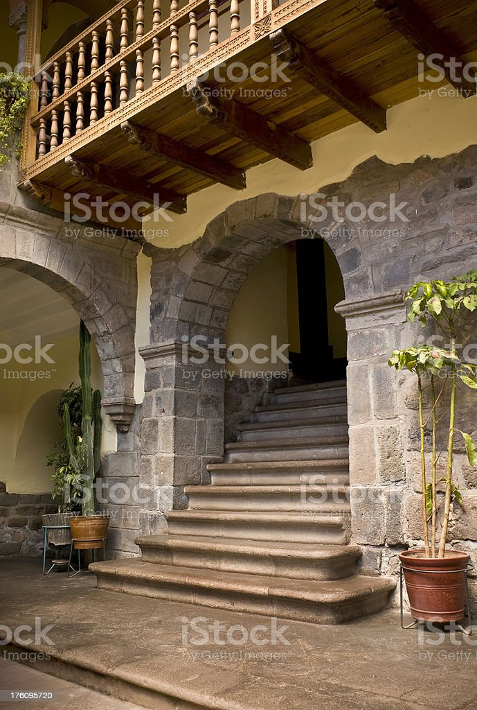 Traditional Architecture in Peru royalty-free stock photo
