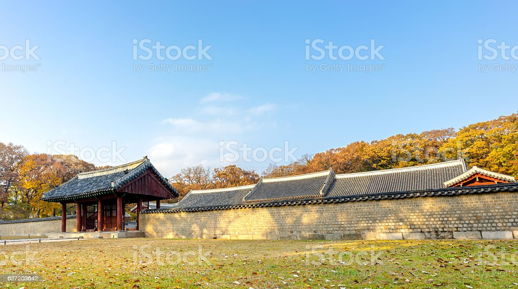 Traditional architecture in South Korea stock photo