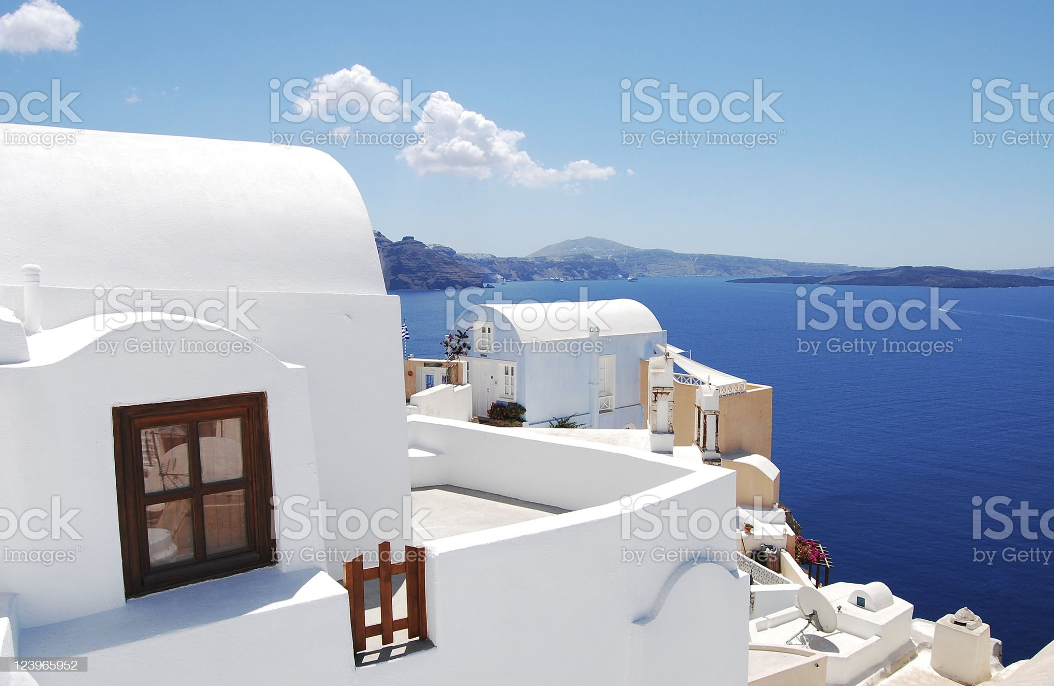 Traditional architecture of Oia royalty-free stock photo